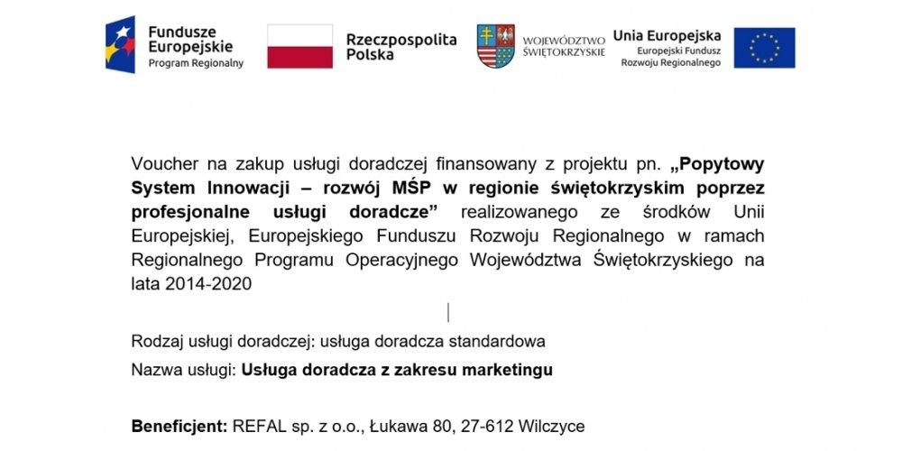 """REFAL realizuje projekt z programu """"Popytowy System Innowacji – rozwój MŚP w regionie świętokrzyskim poprzez profesjonalne usługi doradcze"""""""